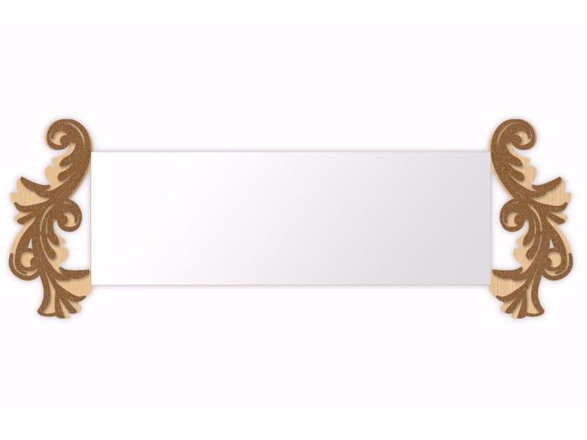 Rectangular wall-mounted framed mirror MW-249SP | Mirror by LAS