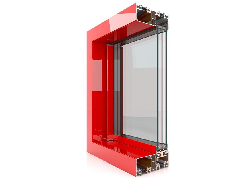 Aluminium thermal break window MX 166 Minimal by Twin Systems