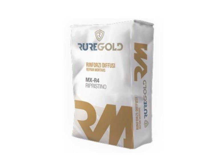 Malta tixotropica fibrata per il ripristino del calcestruzzo MX-R4 Ripristino by RUREGOLD