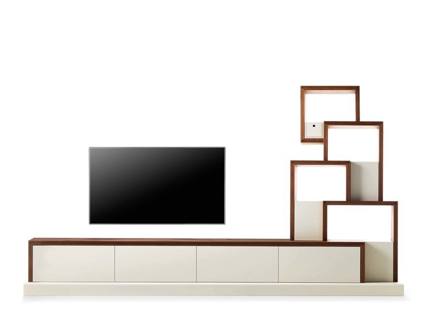 Modular TV cabinet with shelves MY CAT - 730102   TV cabinet by Grilli