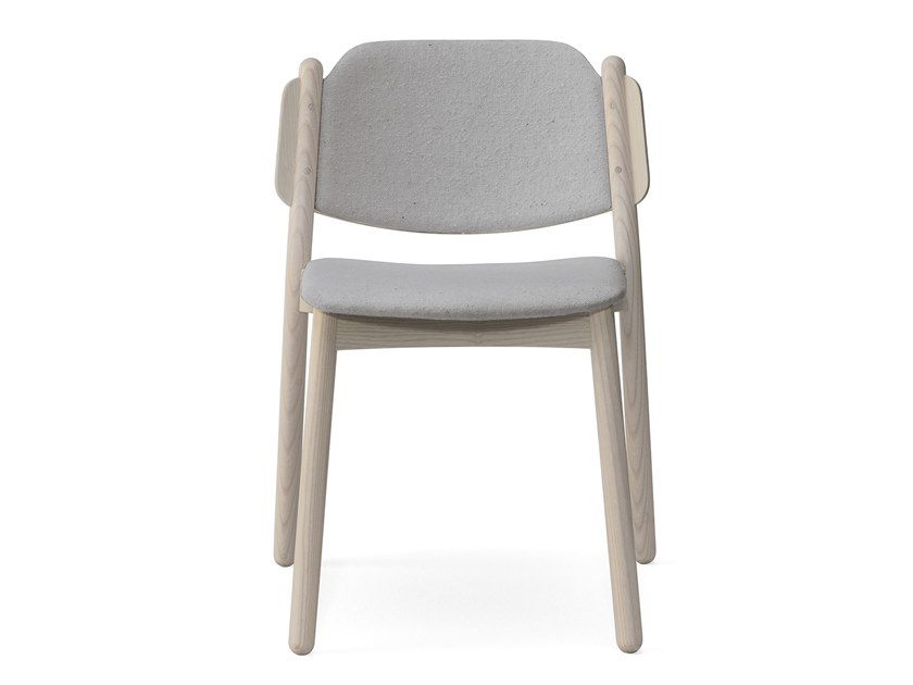 Upholstered stackable ash chair MY CHAIR | Upholstered chair by Billiani