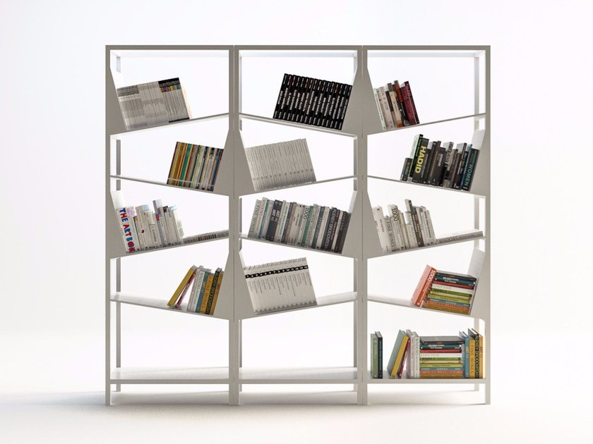 Sectional painted metal bookcase MY LIBRARY by Filodesign