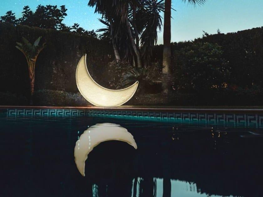 Lettino da giardino / lampada da terra per esterno MY MOON by Seletti