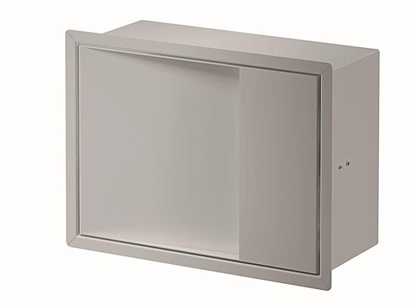 Modulo con portabicchiere e spandisapone MY SECRET | Pensile bagno by INDA®