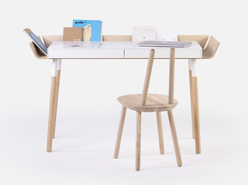 Cassettiere Per Scrivania In Legno.Scrivania In Legno Con Cassetti Per Pc My Writing Desk By Emko