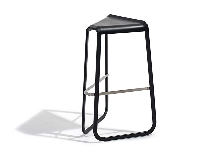 High sled base stool with footrest MYG | High stool by Desalto