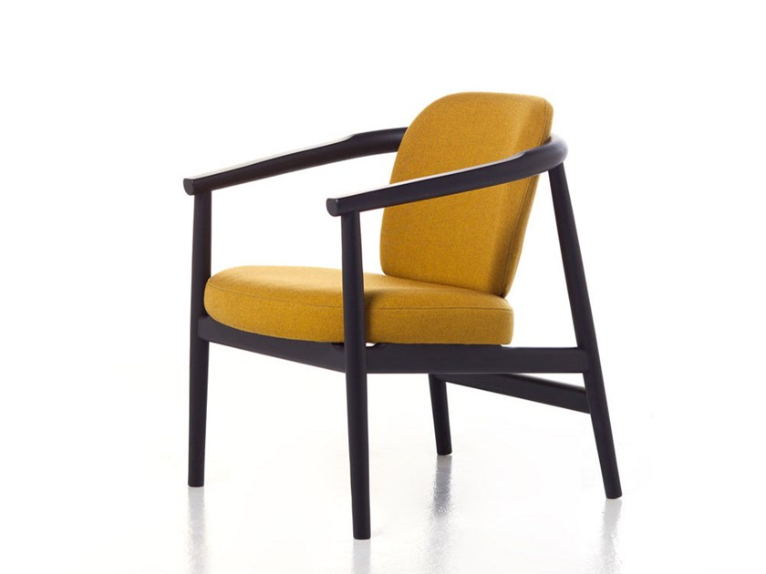 Ash easy chair with armrests MAYIDA 04 by Very Wood
