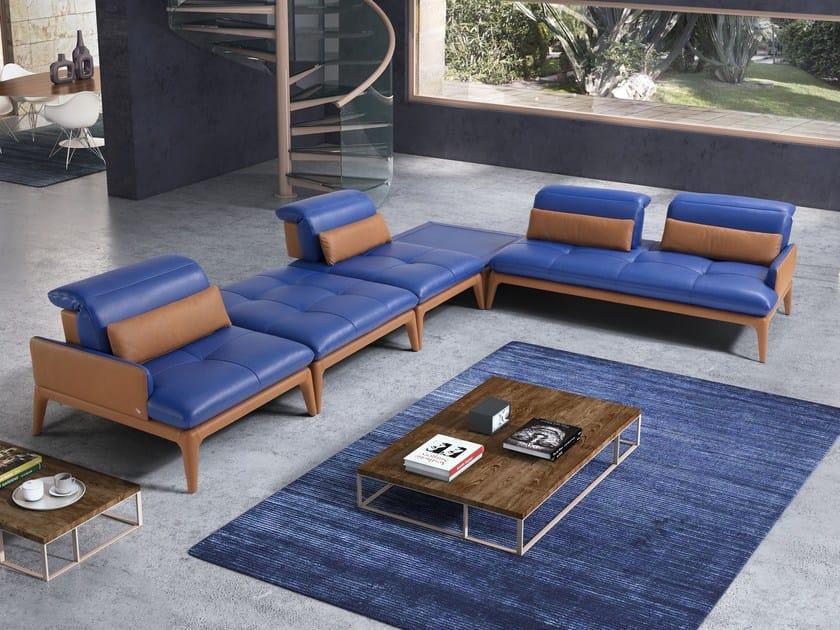 Corner leather sofa MYLENE by Egoitaliano