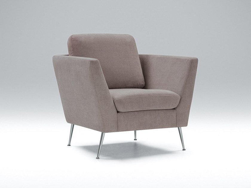 Fabric armchair with armrests MYNTA | Armchair by Sits