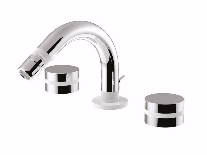 3 hole bidet tap with swivel spout MYRING - FMR0145A by Rubinetteria Giulini