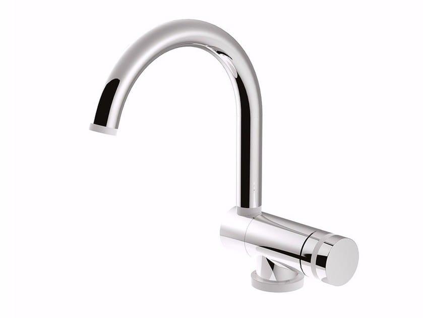 Single handle washbasin mixer with adjustable spout MYRING - FMR0030/U by Rubinetteria Giulini