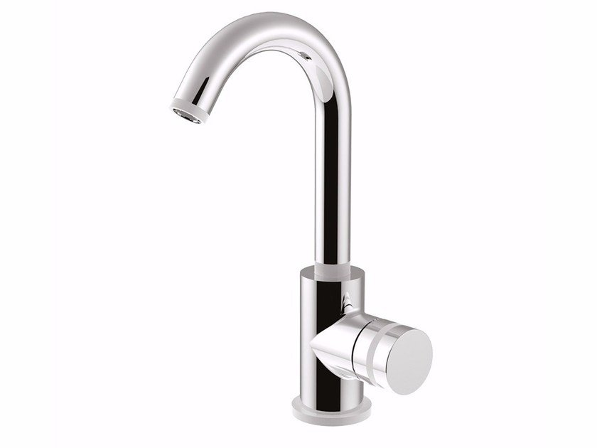 Countertop single handle washbasin mixer with adjustable spout MYRING - FMR0085A by Rubinetteria Giulini