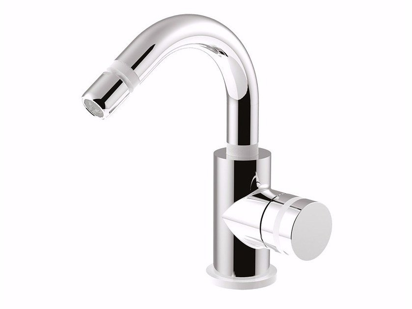 Countertop single handle bidet mixer with swivel spout MYRING - FMR0087A by Rubinetteria Giulini