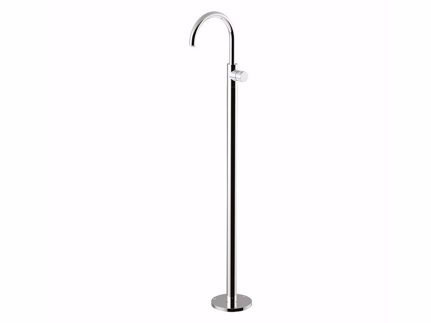 Floor standing single handle washbasin mixer with adjustable spout MYRING - FMR0090 by Rubinetteria Giulini