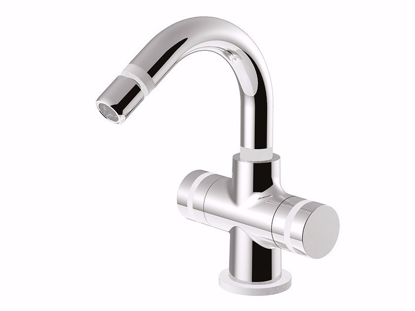 Countertop bidet tap with swivel spout MYRING - FMR0159A by Rubinetteria Giulini