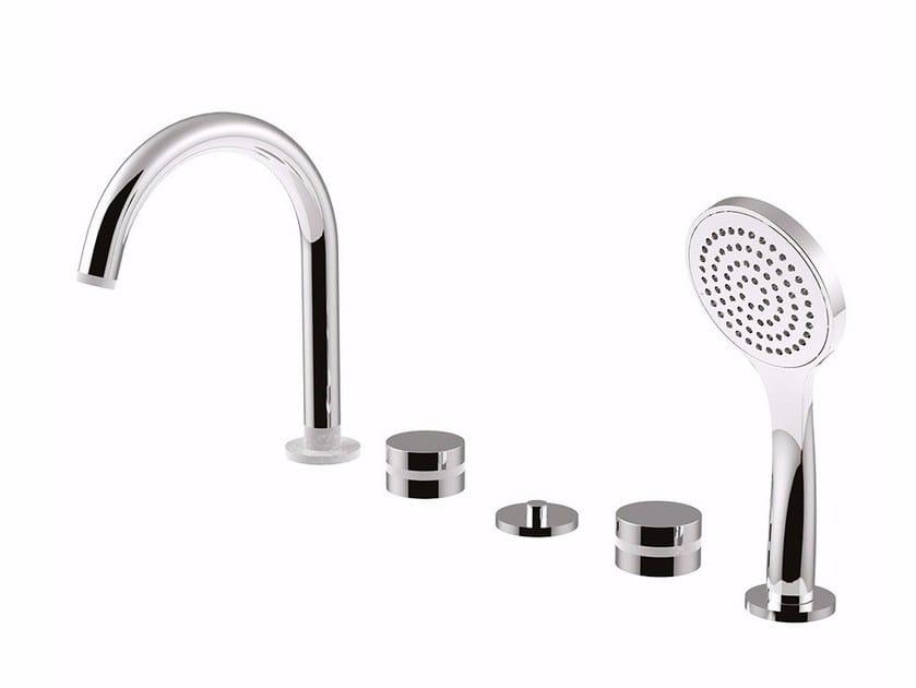 5 hole bathtub set with hand shower MYRING - FMR0160 by Rubinetteria Giulini