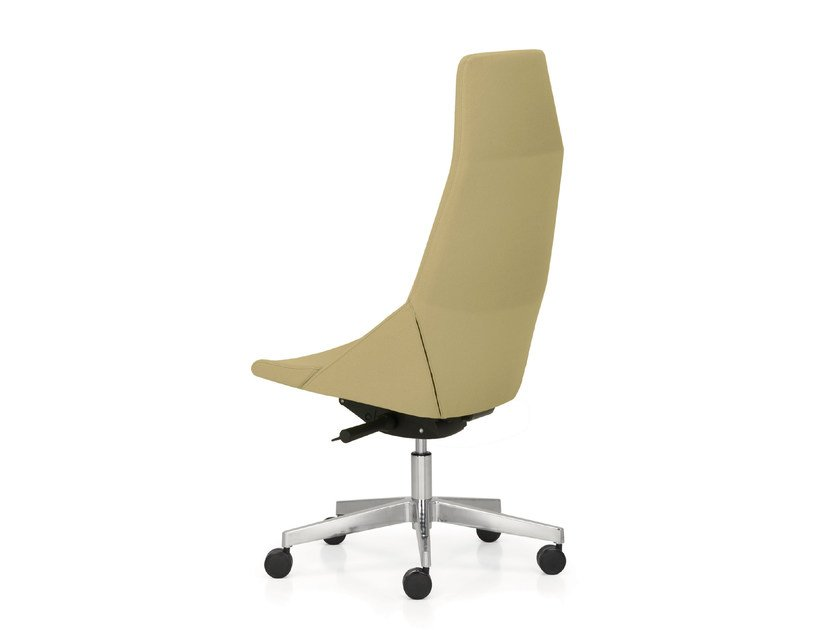 Height-adjustable executive chair with 5-spoke base with casters HYWAY | Executive chair with 5-spoke base by Quinti Sedute