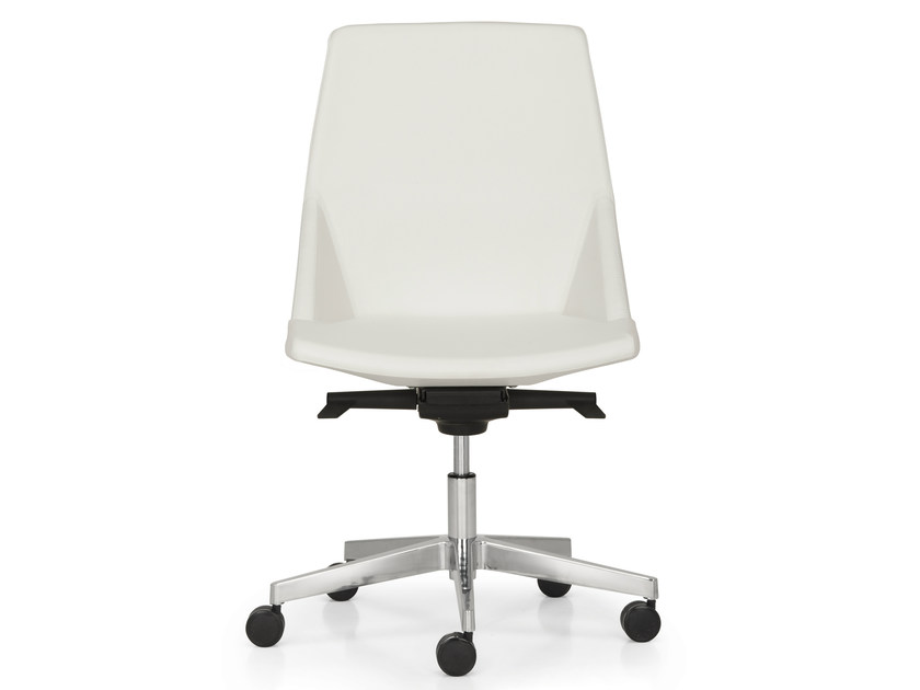 Leather task chair with 5-Spoke base with casters HYWAY | Task chair by Quinti Sedute