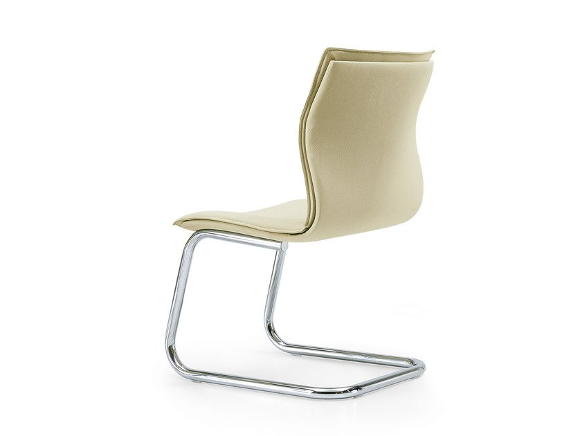 Cantilever leather training chair MAYBE | Cantilever chair by Quinti Sedute
