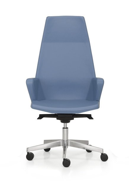 Swivel leather executive chair with 5-spoke base HYWAY | Executive chair with casters by Quinti Sedute