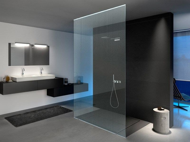 Transparent glass texturized for Led lighting MADRAS® PUNTO-N CRISTALLI by Vitrealspecchi