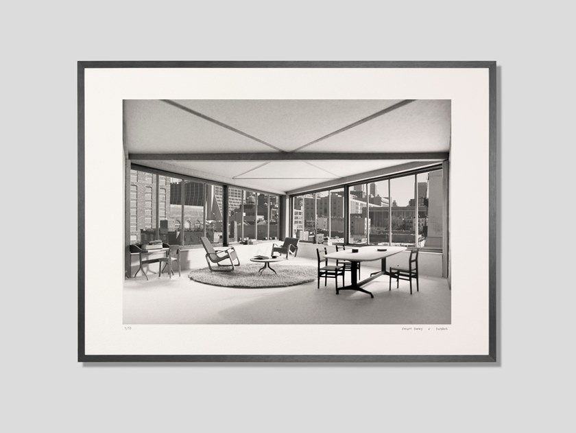 Architectural model photographic fine art print MANHATTAN LIVING ROOM by DESPLANS
