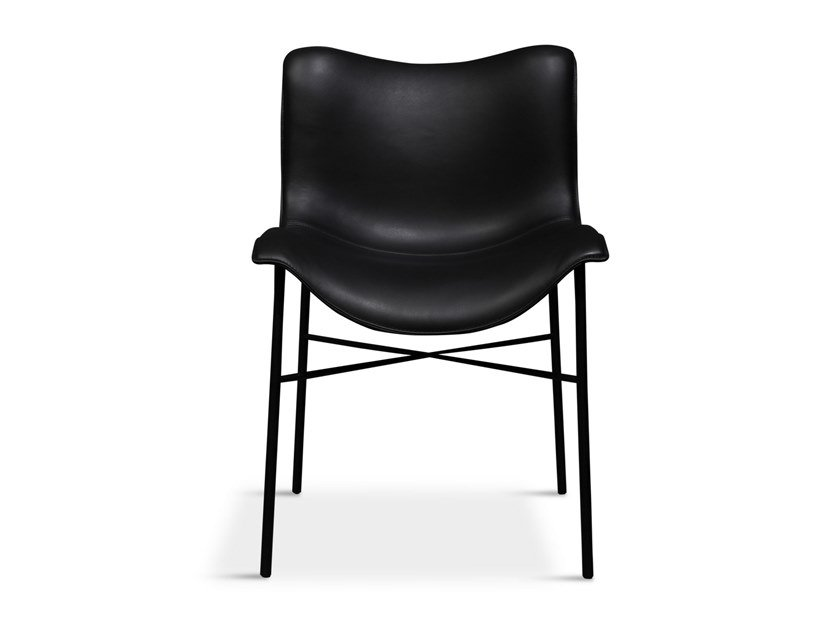 Cadeira estofada de pele MANTLE by Handvärk