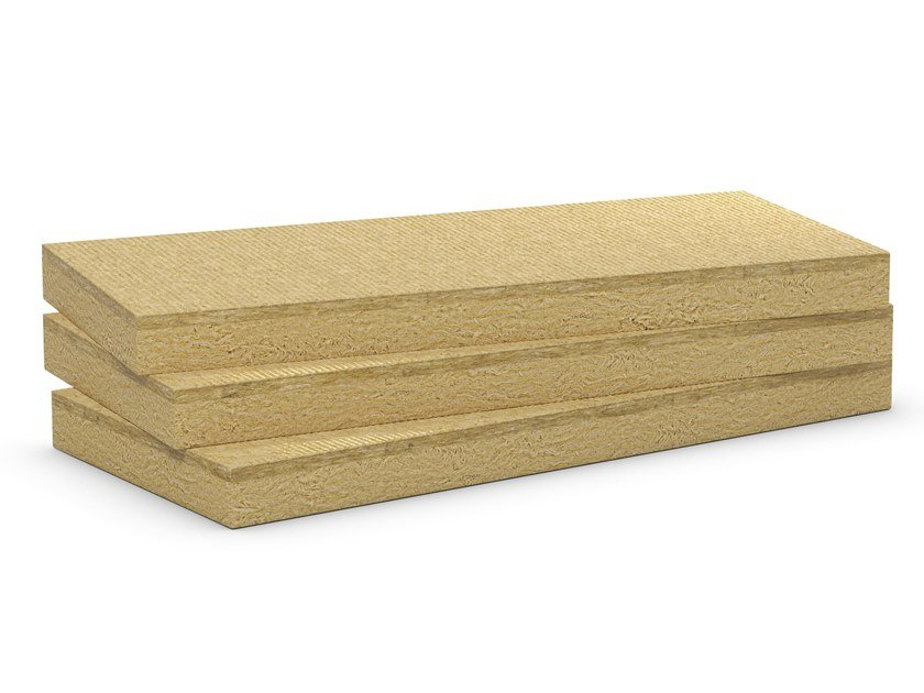 Rock wool Thermal insulation panel / Sound insulation and sound absorbing panel in mineral fibre Masterrock NB by Rockwool Italia