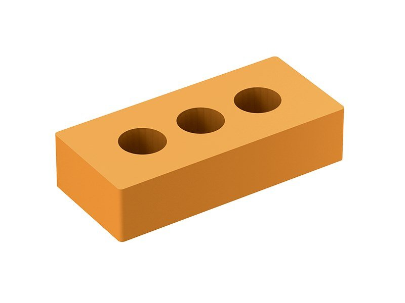 Fair faced clay brick Mattone 3 fori by Fornaci Laterizi Danesi