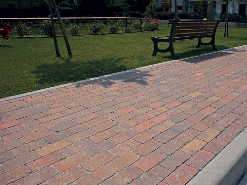 Concrete paving block Mattone Antico by Micheletto