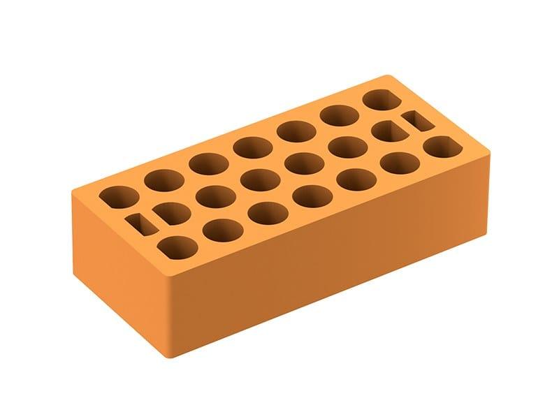 Fair faced clay brick Mattone forato by Fornaci Laterizi Danesi