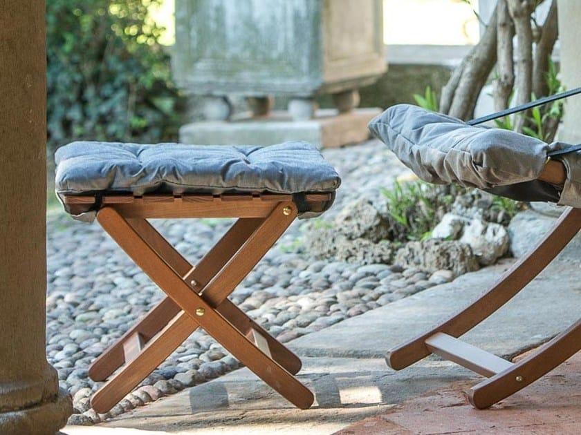 Sgabello da giardino pieghevole in legno matty soft by fiam