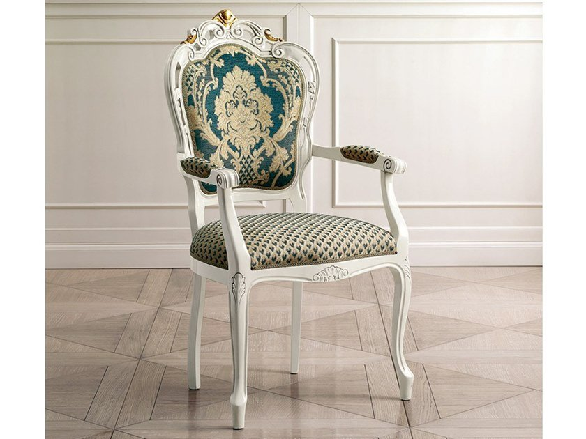Medallion upholstered fabric chair CAPRICCI | Medallion chair by Prestige