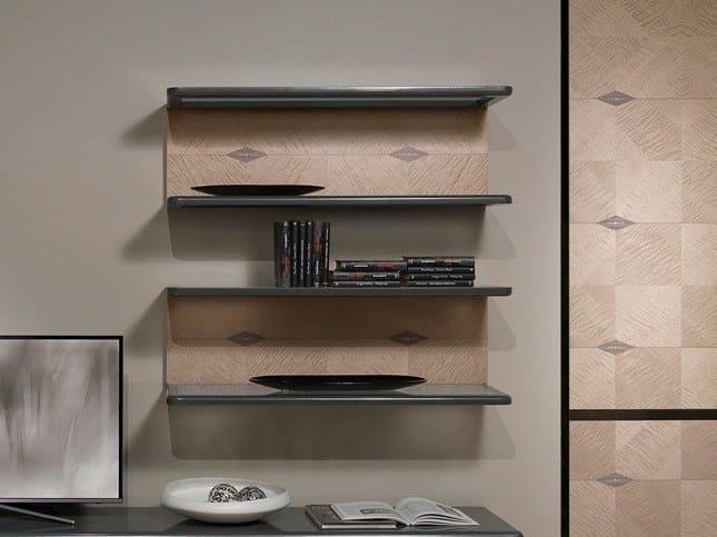 Wooden wall shelf DESYO LUX   Wall shelf by Carpanelli Contemporary