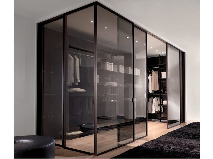 Sliding Glass Cabinet Door For Walk In Wardrobes SPARK | Glass Cabinet Door  By Longhi