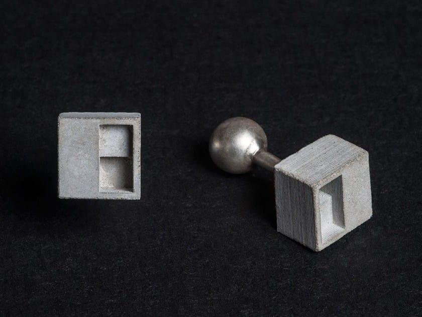 Concrete Cufflinks Micro Concrete Cufflinks #1 by mim studio