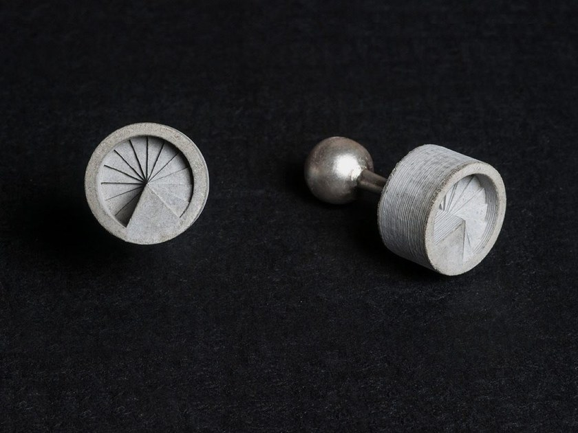 Concrete Cufflinks Micro Concrete Cufflinks #7 by mim studio