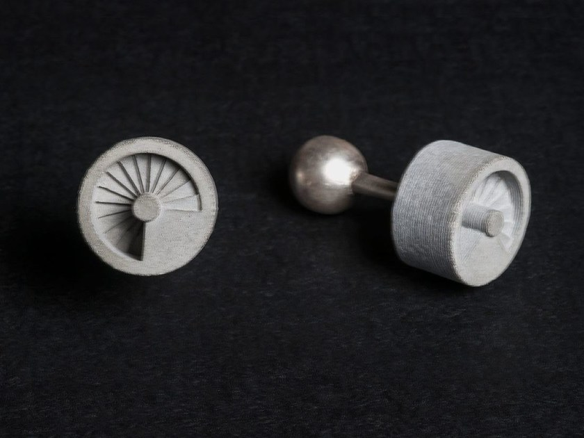 Gemelli in calcestruzzo Micro Concrete Cufflinks #9 by mim studio