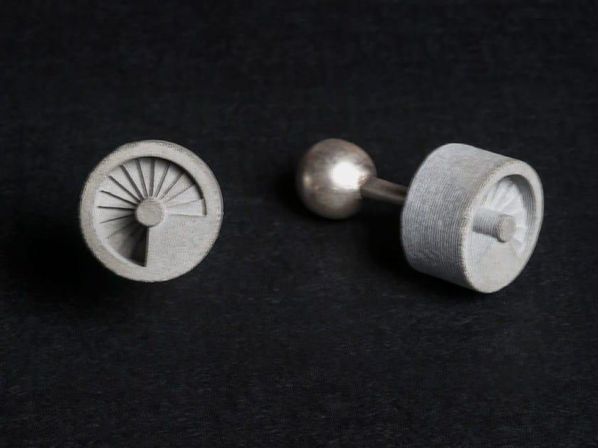 Concrete Cufflinks Micro Concrete Cufflinks #9 by mim studio