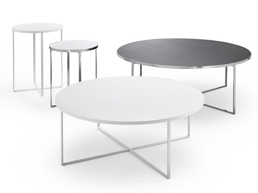 Round metal coffee table MINIMIZE ROUND by YOMEI