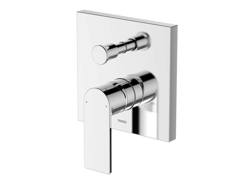 Single handle shower mixer with diverter DB348VE | Chromed brass shower mixer by TOTO