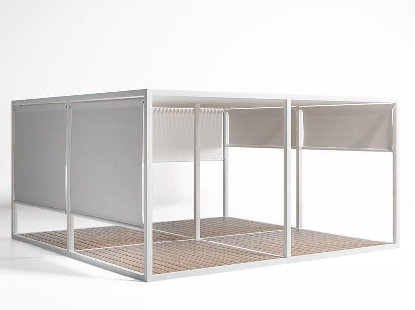 Tetto Alluminio Mobile e Pavimento chiusure con tende