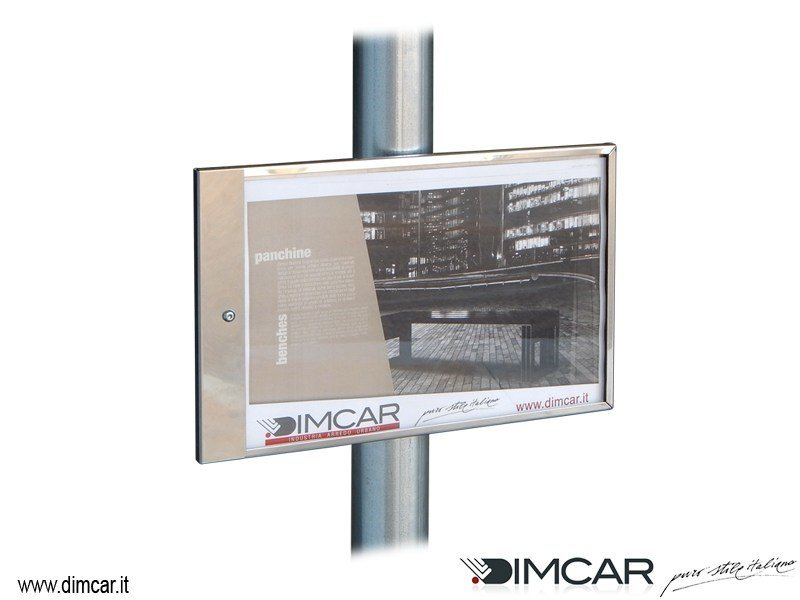 Stainless steel notice board Tabella Modena Inox by DIMCAR