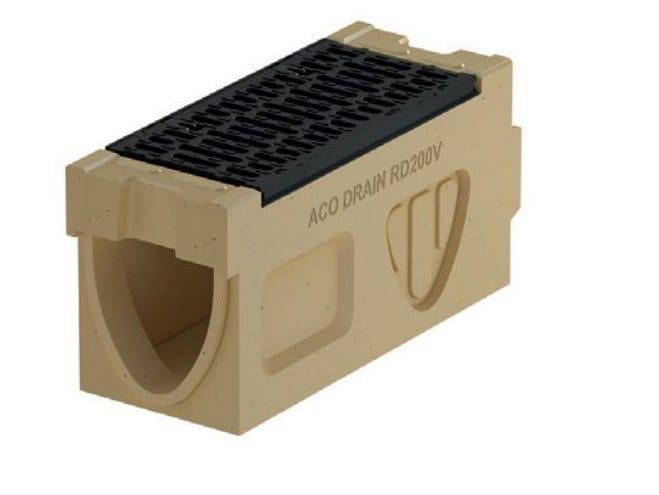 Concrete Drainage channel and part Monoblock RD 200 V - Inspection element by ACO PASSAVANT