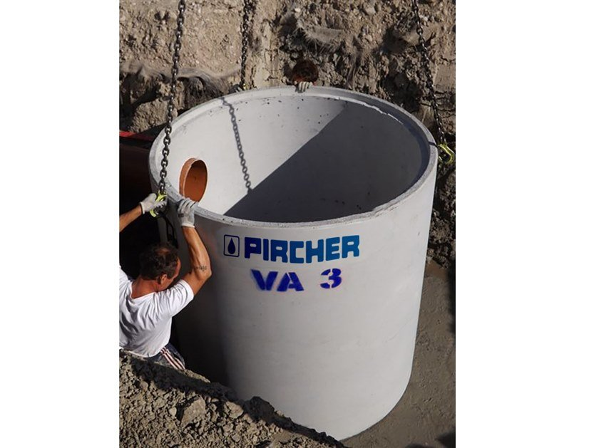 Bath, cistern and tank for water system Monolithic concrete cistern by Pircher