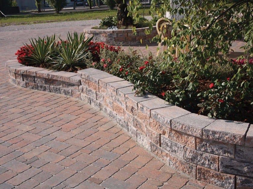 Muretto di mattoni in calcestruzzo per giardino murago veneto micheletto - Copertine per muretti esterno in cemento prezzi ...