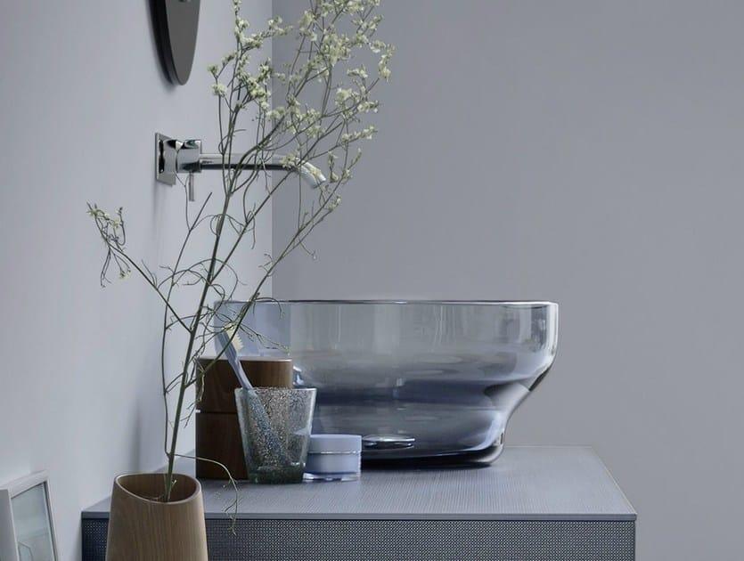 Countertop round Murano glass washbasin Murano glass washbasin by Rexa Design