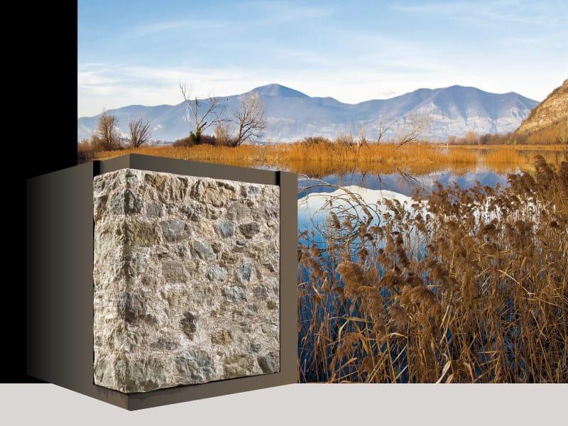 Rivestimento di facciata in pietra ricostruita ISEO P32 by GEOPIETRA®