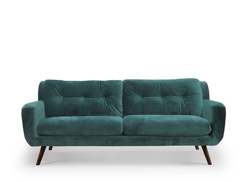 Tufted 3 seater velvet sofa N 801 by Notre Monde