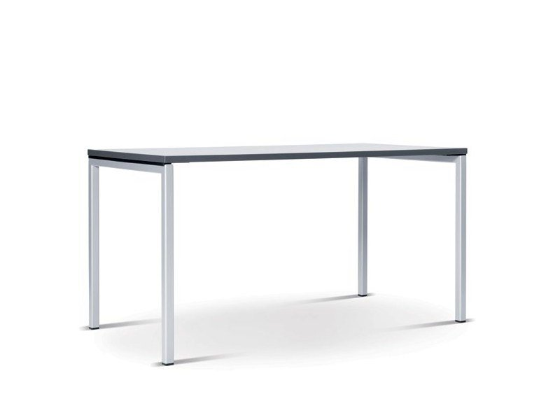 Stackable folding rectangular table N.F.T. by Wiesner-Hager